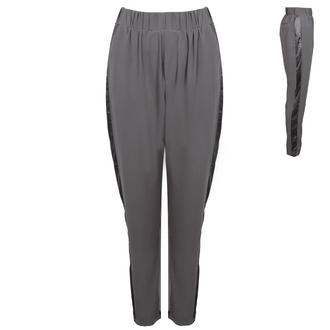 View Item Grey Loose Fitting Trousers With Side Panel